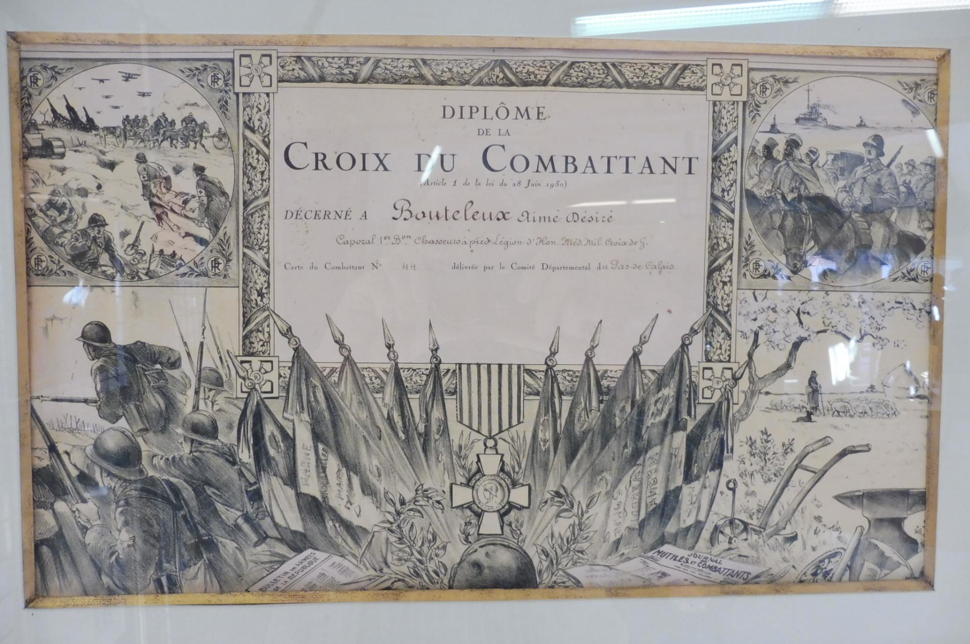 Diplome de Carte duCombattant