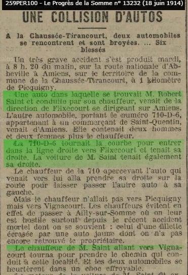 1 accident la chaussee tirancourt 1914 1