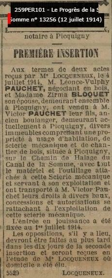 Insertion pauchet