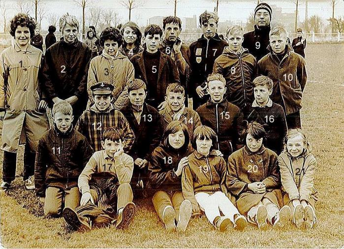 Jeunes au terrain de foot